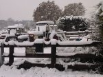 Tractors in the snow